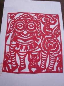 paper cutting by Chinese preschool teacher/artist