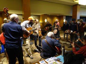 informal hallway concert  at Wintergrass 2014